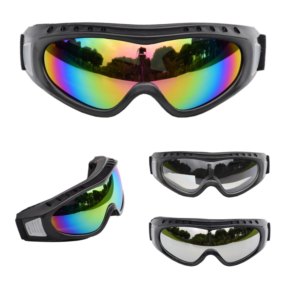 Ski Goggles Eyewear Anti-UV Windproof PC Lens Anti-fog Sand Protective Winter Youth Kids Sports Goggles Skiing Eyewear