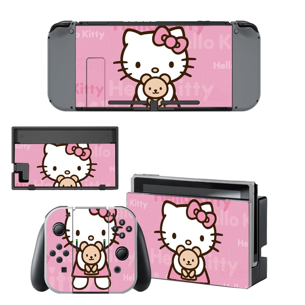 Hello Kitty Nintendo Switch Skin Sticker NintendoSwitch Stickers Skins For Nintend Switch Console And Joy-Con Controller Vinyl