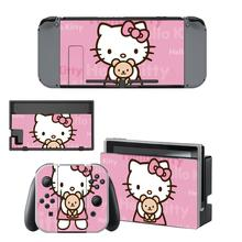 Hello Kitty Nintendo Switch Skin Sticker NintendoSwitch stickers skins for Nintend Switch Console and Joy Con