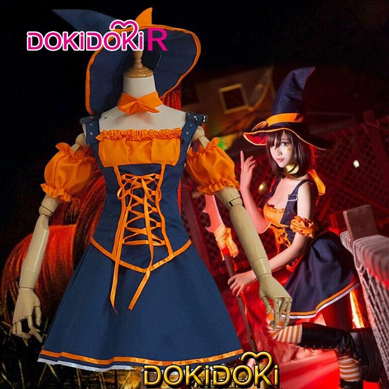 DokiDoki-R League of Legends Game Cosplay Nidalee Cosplay the Bestial Huntress Women Pumpkin Dress Costume League of Legends 2
