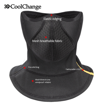 CoolChange Bicycle Mask Windproof Thermal Warm Winter Sports Cycling Half Face Mask Thick Ear Protection MTB Bike Face Mask 1