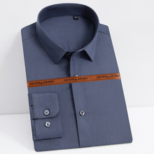 Shirts Stretch-Dress Long-Sleeve Holiday Standard-Fit Pocket-Less-Design Men's Casual