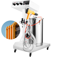40W 50L Electrostatic Powder Coating Machine with Spraying Gun Paint Home Appliances Auto Parts Industries Powder Coating System