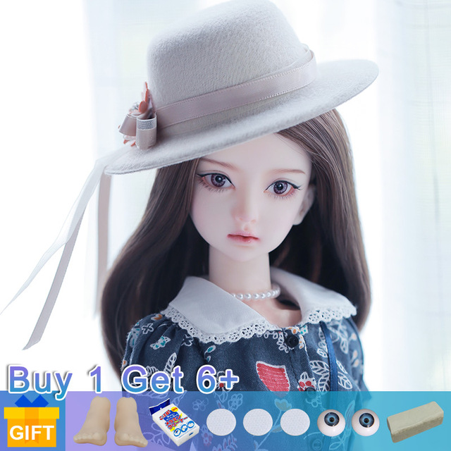 New Arrival Doll BJD Cola 1/4 Doll BJD cosmetics dolls fullset complete professional makeup Toy Gifts movable joint doll