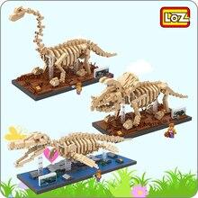 LOZ Jurassic Period Dinosaur Fossil Mosasaurus Triceratops Brachiosaurus Skeleton Mini Diamond Blocks Bricks Building Toy no Box