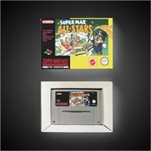 Super Marioed All Stars wersja EUR karta do gry RPG oszczędzanie baterii dzięki opakowanie detaliczne