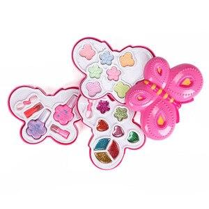 Kit de cosméticos vestido para niñas juego de juguetes para niños Juego de maquillaje rosa de princesa juego de maquillaje no tóxico maquillaje