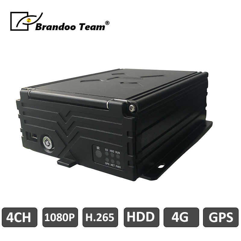 4 Channel Car DVR Mobile DVR Auto Video Recorder 4 Channel HDD 1080P Pencatat HDD Mobil DVR GPS 4G Mdvr