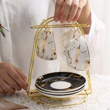 Золотистый держатель для кофейных чашек органайзер сушки многофункциональная