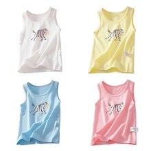 Хлопковая футболка для девочек летняя футболка для детей топы для девочек с героями мультфильмов детская майка для малышей