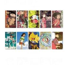 10 Stks/set Kawaii Anime Spirited Away Decoratieve Stickers Souvenir Card Stickers Diy Klassieke Speelgoed Geschenken