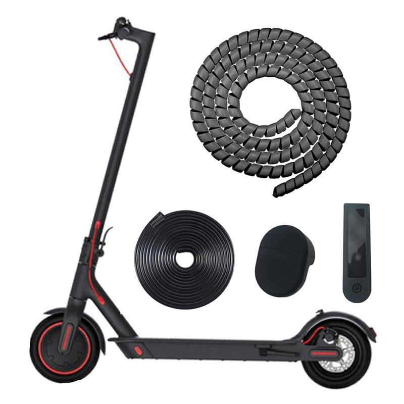 Hot Scooter Line <font><b>Protector</b></font> for <font><b>Xiaomi</b></font> <font><b>Mijia</b></font> <font><b>M365</b></font> Electric Scooter Line Tube 1m Length Winding Tubes image