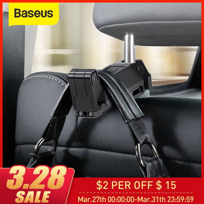 Baseus Car Backseat Phone Holder Hook Auto Fastener Clip Cellphone Holder Seat Back Bag Hanger Clip In Car For IPhone XR Xiaomi