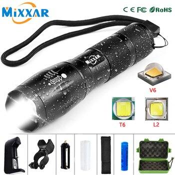 Linterna recargable para bicicleta Q250 TL360, 8000 LM, T6/V6/L2, 18650