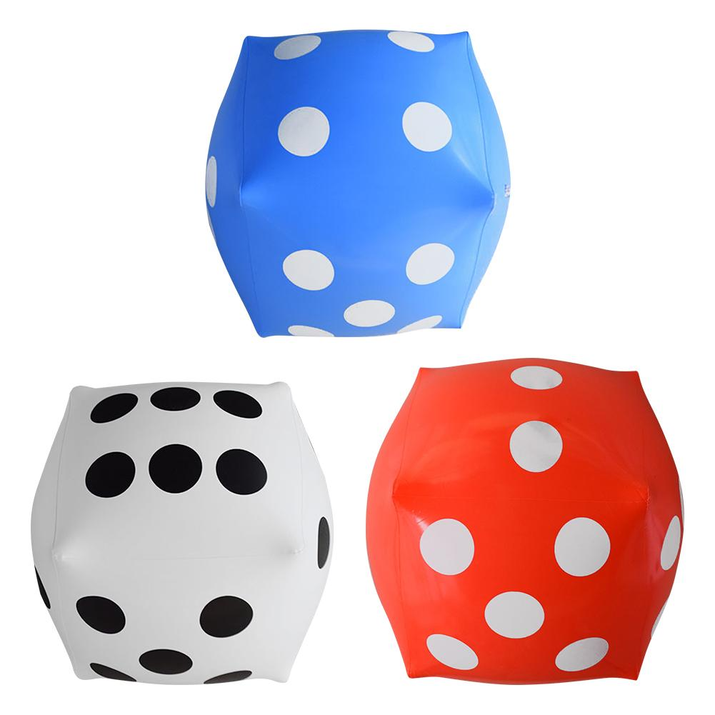 12 Inch Inflatable Multi Color Blow-Up Cube Big Dice Toy Stage Prop Group Game Tool Casino Poker Party Decoration Pool Beach Toy