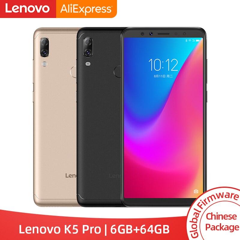 Global ROM Lenovo K5 Pro 6GB 64GB Snapdragon 636 Octa Core Four Cameras 5.99 Inch 18:9  4G LTE Phones 4050mAh Smartphone