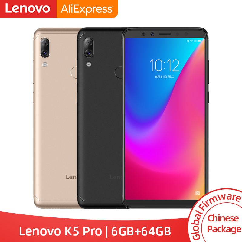 Global ROM Lenovo K5 Pro 6GB 64GB Snapdragon 636 Octa Core Four Cameras 5.99 inch 18:9 4G LTE Phones 4050mAh <font><b>Smartphone</b></font> image
