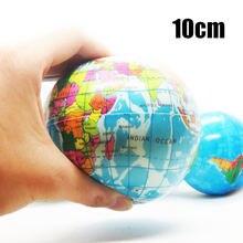 1 шт Забавный 10 см снятие стресса карта мира пенопластовый