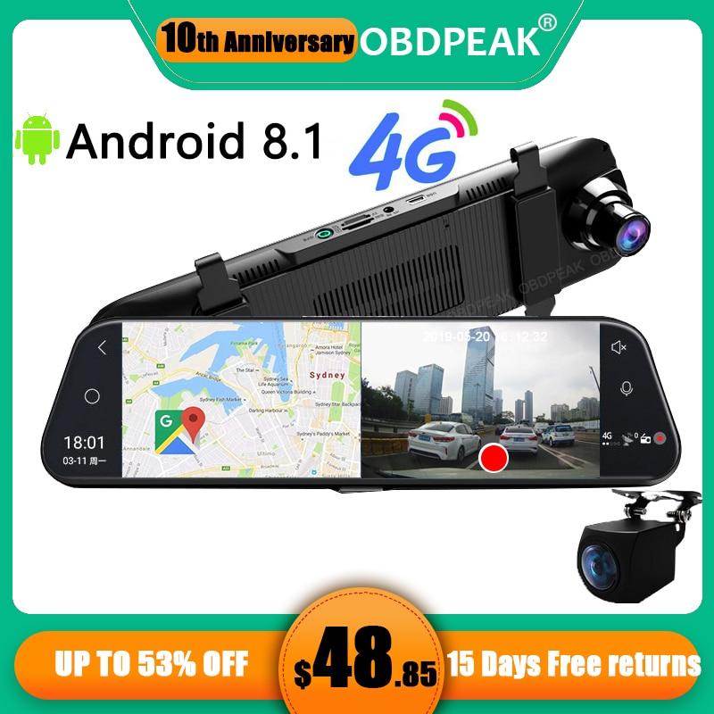 """Car DVR A980 4G Android 8.1 ADAS 10"""" Stream Media Dash Cam Camera Car Camera Recorder Dvr Dashcam GPS Navigation 1080P WIFI"""