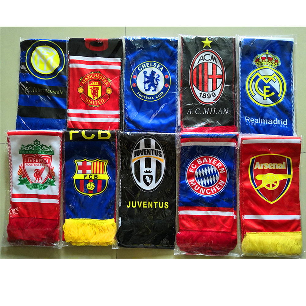 140*16cm World Cup Soccer Fans Scarf Soft Scarfs National Teams Gift For Football Kid Fan Soccer Cheerleaders Scarves