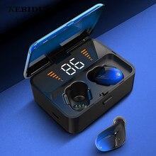 KEBIDU ES01 TWS Bluetooth 5.0 słuchawki douszne bezprzewodowe słuchawki douszne 9D Stereo Sport wodoodporne słuchawki zestaw głośnomówiący LED wyświetlacz mocy