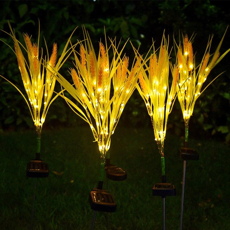 Наружный светодиодный светильник, солнечная пшеничная лампа в форме уха, наружное водонепроницаемое садовое украшение, светильник для двора, датчик, имитация пшеничной лампы|Светодиодные солнечные лампы|   | АлиЭкспресс