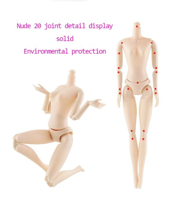 Muñeca BJD 30cm 20 muñecas articuladas móviles ojos 3D Bjd muñeca de plástico para niñas juguetes peluca larga femenina Cuerpo desnudo regalo de Navidad de moda