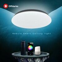 OFFDARKS-lámpara de techo LED inteligente, moderna, 48W, WiFi/APP, Control inteligente, RGB, atenuación, dormitorio, lámpara de techo para cocina, 220V/AC
