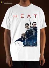 Heat Movie Poster Ver 1 T Shirt Al Pacino Robert De Niro (White) S 3Xl Mens Fashion 2019 100% Cotton Short Sleeve de niro