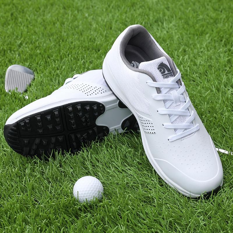 Waterproof Golf Shoes Men Big Size 39-48 Light Golfing Shoes Man Antiskid Athletic Golf Sneakers Training Sport Golfer Footwear
