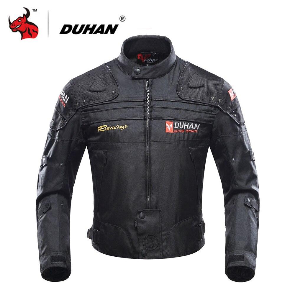 Duhan motocicleta jaqueta moto equitação jaqueta à prova de vento da motocicleta corpo inteiro engrenagem de proteção armadura outono inverno roupas moto