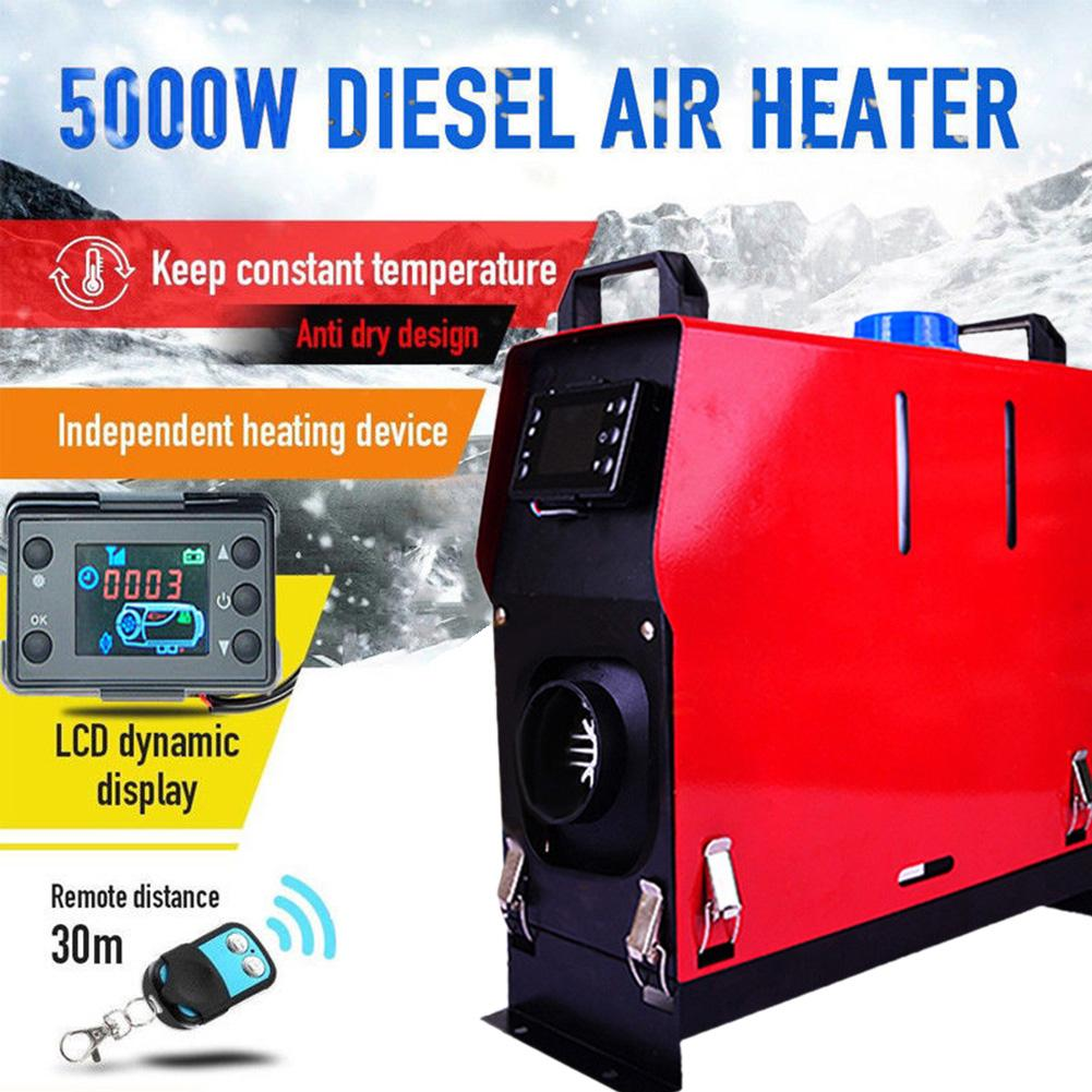 Réchauffeur Diesel d'air de 12V 5KW 8KW 1 trou 4 trous réchauffeur de moniteur d'affichage à cristaux liquides réchauffeur Diesel de stationnement pour des bateaux d'autobus de camion de voiture chauds