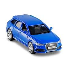 1:36 escala audi rs6 wagon diecast liga de metal modelo carro luxo puxar para trás carro para crianças brinquedos com coleção v301