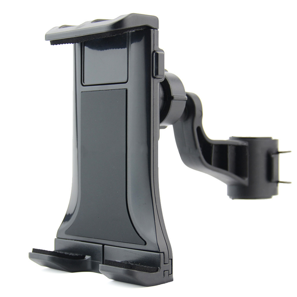 Back Seat Phone Anti Scratch Clip Universal 360 Degrees Rotatable Interior Clamping Headrest Bracket ABS Car Tablet Holder Stand