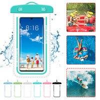 Funda Universal impermeable para teléfono móvil, bolsa impermeable de 19x10,8 cm, transparente, para natación y buceo