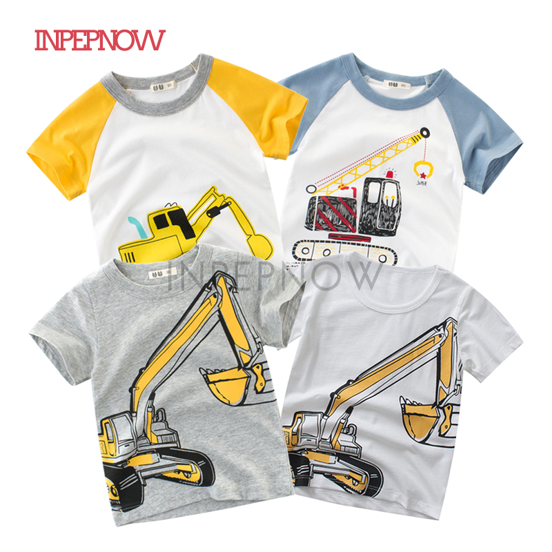 INPEPNOW Children's T-Shirt Excavator Happy-Birthday-T-Shirt Girls Baby-Boys Kids Boy