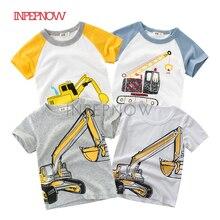 Детская футболка для мальчиков, футболка хлопковые топы с машинками, детские футболки для девочек, детская футболка для мальчиков футболка на день рождения, Camisetas