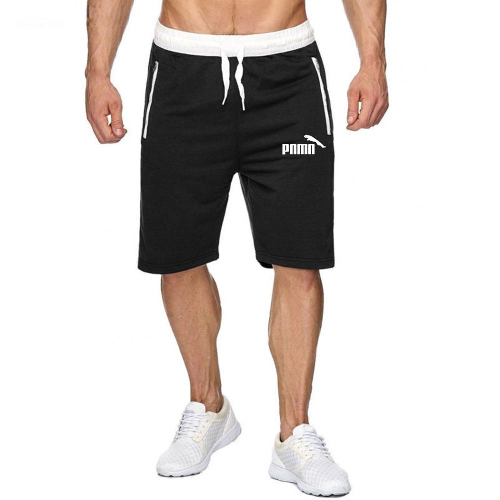 Solid Color Men Cotton Jogger Shorts Summer Fashion Mens Beach Shorts Casual Male Shorts Bodybuilding Sweatpants Fitness Short