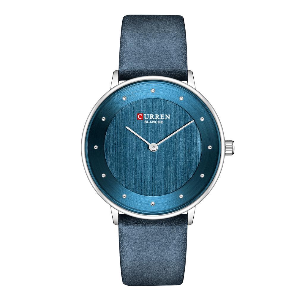 CURREN Hermosos Relojes De Cuarzo Para Mujer, The New Reloj De Pulsera De Cuero De Moda Delgado Para Mujer, Regalos Para Mujer