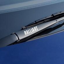 Uds para Mitsubishi Ralliart Outlander 3 Lancer 10 3 9 EX ASX L200 Carisma Colt Pajero coche etiqueta engomada de la ventana de limpiaparabrisas Auto Accesorios
