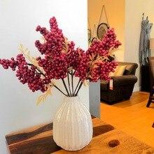 Искусственные ягоды из целлюлозы, рождественские украшения для дома, свадьбы, искусственные растения, букет, сделай сам, вечерние аксессуары для отелей