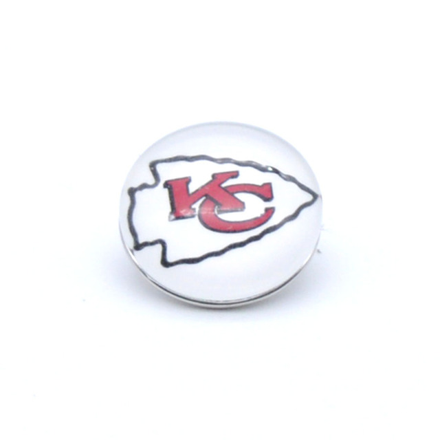Snap Button 18mm 12mm Kansas City Chiefs Charms Ginger Bracelet for Women Men Football Fans Gift Paty Birthday Fashion 2019