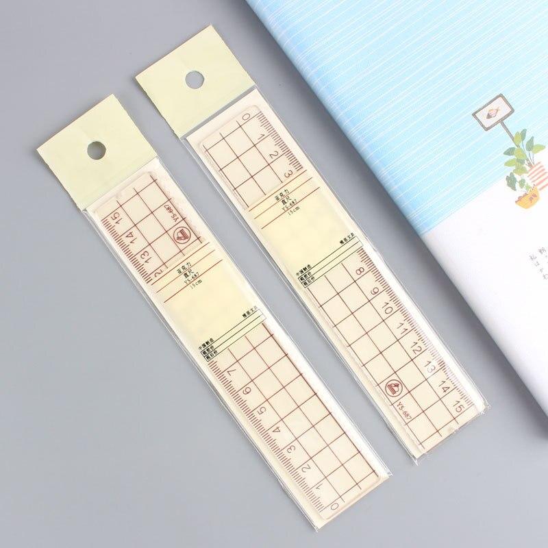 Simple Creative Scale Transparent Acrylic Scale Students Ruler Multi-functional Ruler 15 Cm