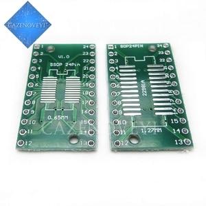 10pcs/lot SOP24 SSOP24 TSSOP24 to DIP24 PCB Pinboard SMD To DIP 0.65mm/1.27mm to 2.54mm DIP Pin Pitch PCB Board Converter Socket