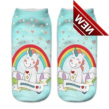 1pair Unicorn Kids Socks 3d Printed Unisex Boys Girls Low Cut Ankle Calzini Skarpetki Calcetines Sock Skarpety Sokken Chaussette