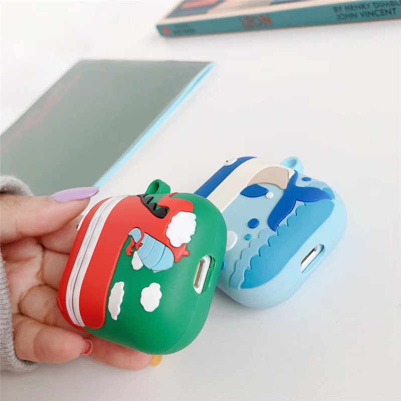 Hot Cute 3D Dinosaur Hippo Whale Piglet Korean Style Cartoon Headphone Cover For Apple Airpods 2 Silicone Protection Cases Funda
