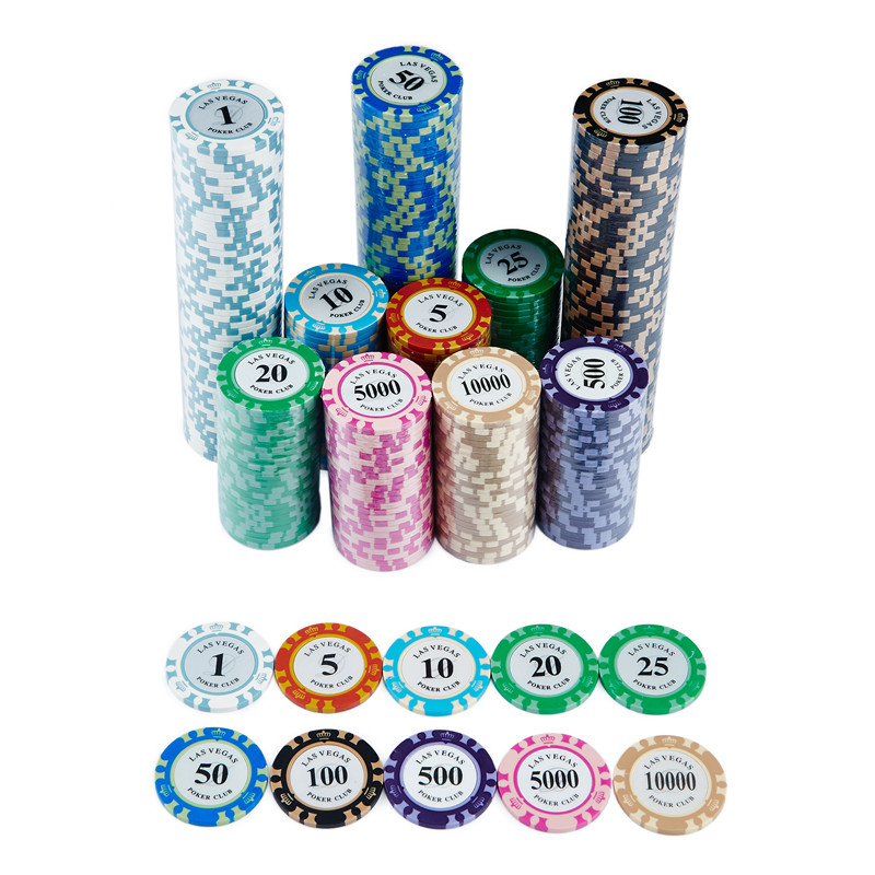 New 25pcs/lot Clay Material Casino Texas Poker Chip Set Metal Coins Crown Monte Carlo Chips Poker Club Accessories 2020