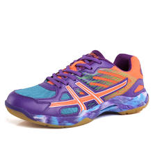 цена Professional Badminton Shoes Men and Women Lightweight Sport Shoes Anti-slippery Breathable Sneakers for Lover Size 35-45 онлайн в 2017 году