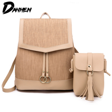 Casual Backpacks Women Travel Laptop Daypack Leather Bag For College Simple Design PU Female Fashion Backpack