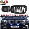 MagicKit 1 пара новая ABS замена матовая черная двойная планка Передняя решетка для почек решетка для BMW F15 F16 X5 X6 2014-17 вентиляционная решетка
